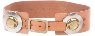 Diane von Furstenberg Leather Embellished Belt
