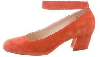 Chloé Ankle Strap Round-Toe Pumps