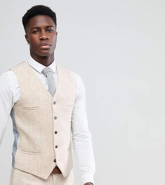 Skinny Waistcoat In Harris Tweed