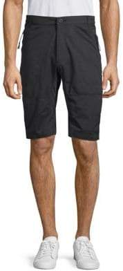 ProjekRaw Buttoned Cotton Blend Shorts