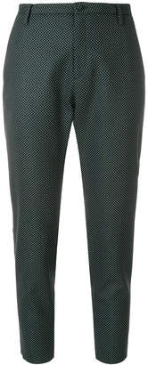 Hope dot patterned tailored cropped trousers