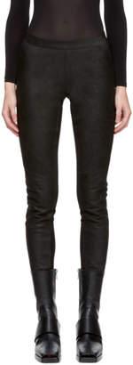 Gareth Pugh Black Waxed Leather Pants