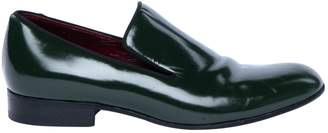 Celine Green Patent leather Flats