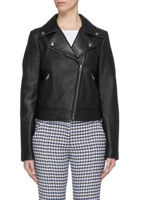 Yves Salomon 'Perfecto' lambskin leather biker jacket
