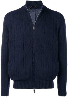 Corneliani ribbed cardigan