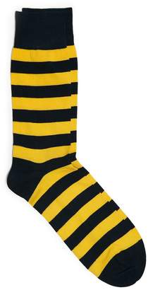 Corgi Queen's Own Navy and Yellow Stripe Sock