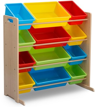 Delta Children Kids' 12 Plastic Bins Toy Storage Organizer