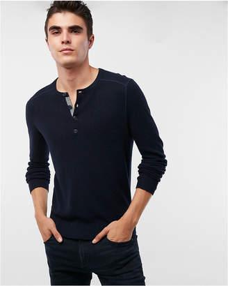 Express Cotton Henley Sweater