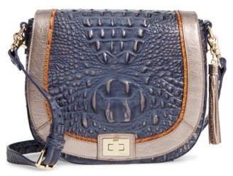 Brahmin Andesite Lucca Sonny Leather Crossbody Bag - Blue $285 thestylecure.com