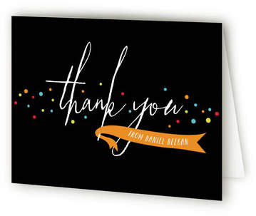 Paint Splatter Surprise Adult Birthday Party Thank You Cards