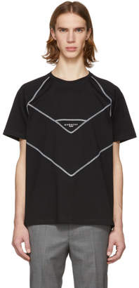 Givenchy Black Contrast Stitching Logo T-Shirt