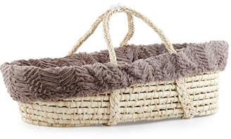 Swankie Blankie Ziggy Moses Basket w/ Bedding, Slate