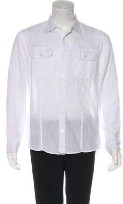Michael Kors Linen Button-Up Shirt