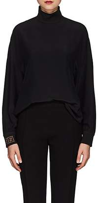 Fendi Women's Silk Crêpe De Chine Blouse - Black