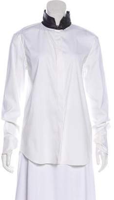 Brunello Cucinelli Long Sleeves Button-Up Top