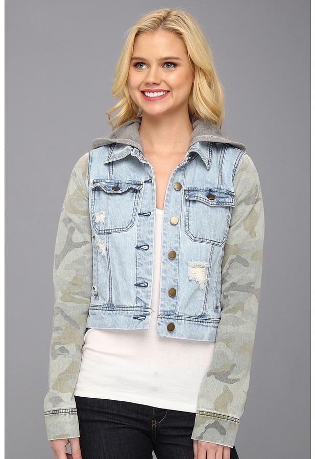Billabong Maddie Joy Denim Jacket (Camo) - Apparel
