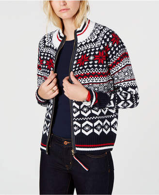 Tommy Hilfiger (トミー ヒルフィガー) - Tommy Hilfiger Fair Isle Zip-Up Sweater