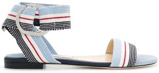 Jimmy Choo Breanne flat striped sandals