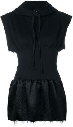 Ann Demeulemeester sleeveless hooded top