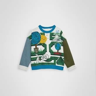 Burberry Childrens Hedge Maze Print Cotton Sweatshirt