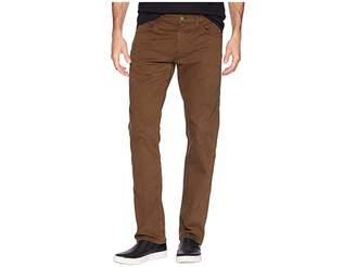 Mavi Jeans Zach Mid-Rise Straight Leg in Brown Twill