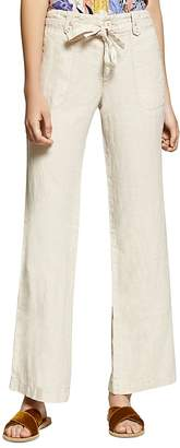 Sanctuary Short Line Wide-Leg Linen Pants