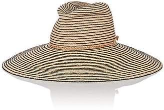 Lola Hats Women's Jolly Rancher Striped Raffia Sun Hat - Black
