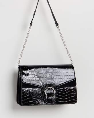 Missguided Croc Detail Shoulder Bag