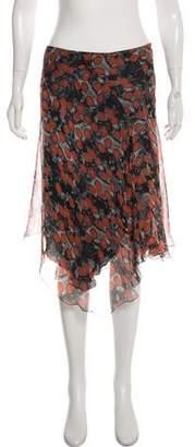 Alexander McQueen Silk Printed Skirt