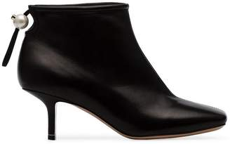 Nicholas Kirkwood black Delfi 60 leather ankle boots