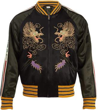 Gucci Dragon embroidered bomber jacket