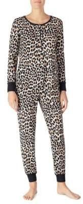 Kate Spade Two-Piece Cheetah Print Pajama Set