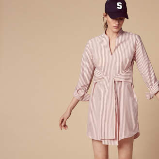 Sandro Striped shirt dress with belt
