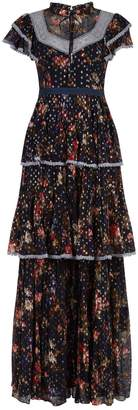 Needle & Thread Winter Forest Tiered Floral Gown
