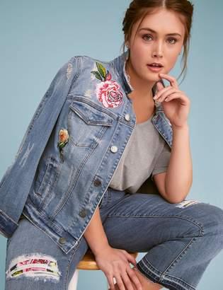 Fast Lane Embroidered Denim Jacket