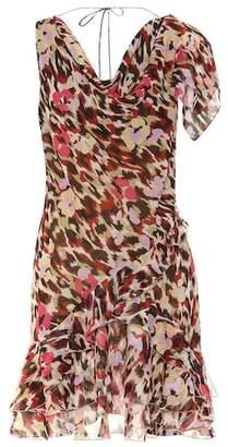 Roberto Cavalli Leopard-printed silk minidress