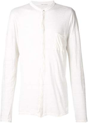 Isabel Benenato button neck T-shirt