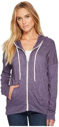 Alternative Eco Jersey Cool Down Zip Hoodie Women's Sweatshirt