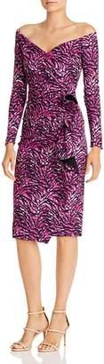 Chiara Boni Silveria Zebra Print Off-the-Shoulder Dress - 100% Exclusive
