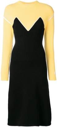 MSGM two tone sweater dress