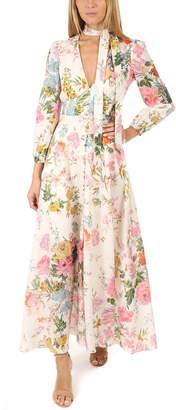 Zimmermann Heathers Plunge Long Dress