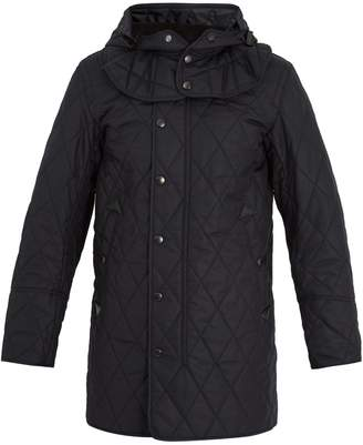 Burberry Hooded quilted field jacket