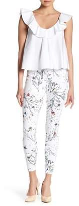 Hue Floral Print Curvy Fit Denim Leggings