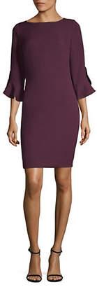 Karl Lagerfeld PARIS Three-Quarter Tulip Sleeve Sheath Dress
