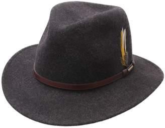 Stetson Men's Traveller Vitafelt Mix Wool Felt Fedora Hat Size L Gray-10