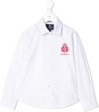 Hackett (ハケット) - Hackett Kids embroidered logo shirt