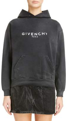 Givenchy Destroyed Logo Hoodie