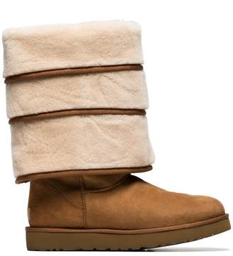 Y/Project Y / Project x UGG brown triple layered shearling boots