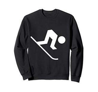 Waring Expert Skier Ahead! Downhill Ski Icon Sweatshirt