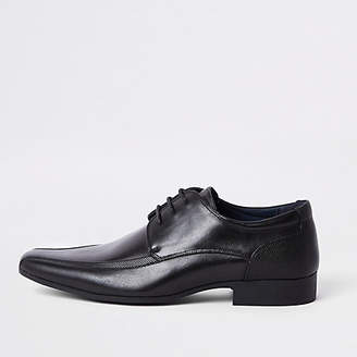 River Island Mens Black pointed lace-up shoes